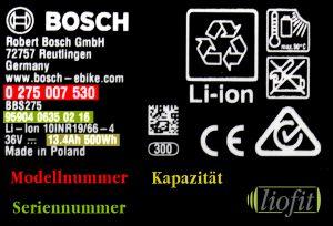 Bosch Etikett komplett