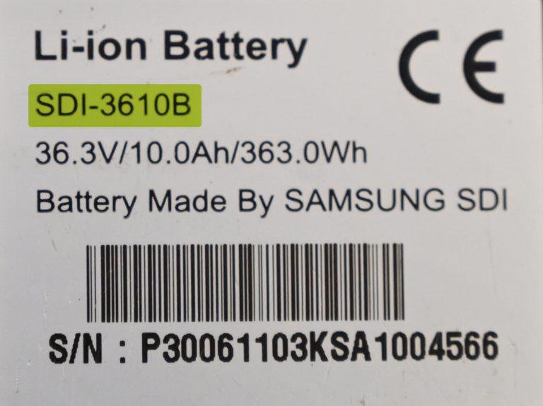 Modellnummer Samsung SDI
