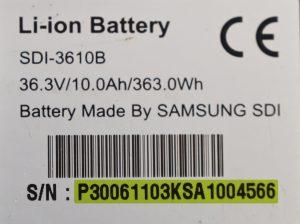 Seriennummer Samsung SDI