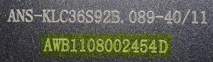 Ansmann-Etikett-Seriennummer